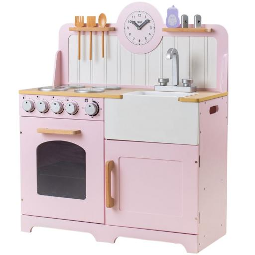 Tidlo Pretend Play Country Kitchen (Pink)