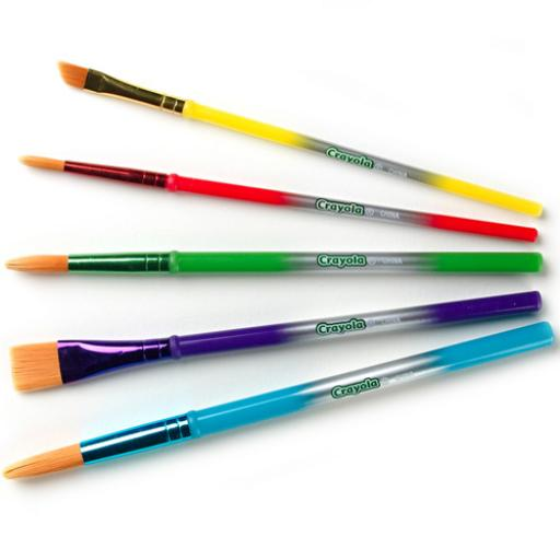 Crayola Five Assorted Arts & Crafts Paintbrushes