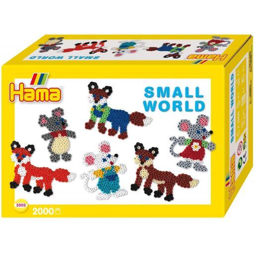 Hama Small World Fox & Mouse Set