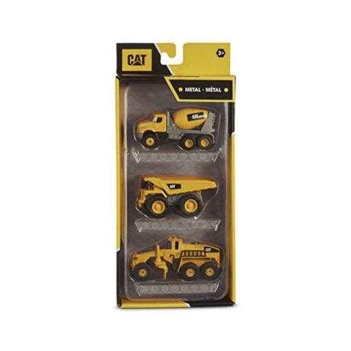 CAT Metal Concrete Mixer/Dump Truck/Grader - 3 Pack
