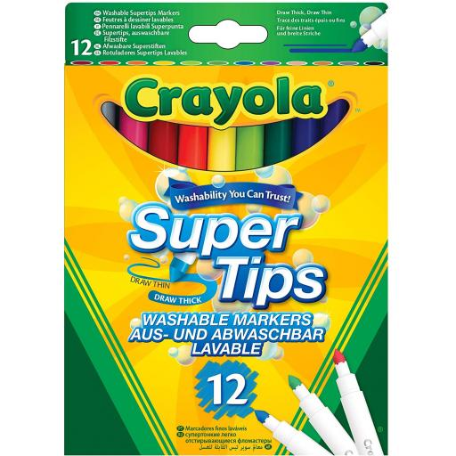 Crayola Supertips Washable Markers - Pack of 12