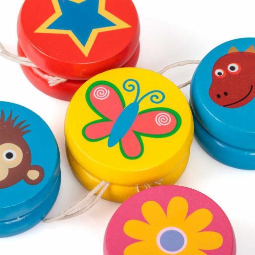 Tobar Mini Wooden Toy Yoyo / One Random Style Per Purchase