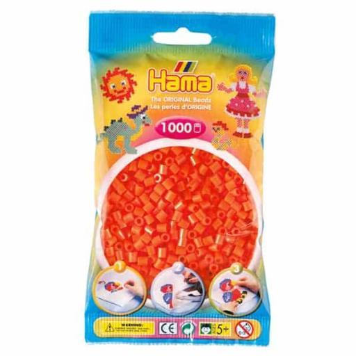Hama 1,000 Orange Midi Beads in a Bag