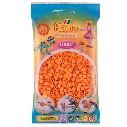 Hama 1,000 Apricot Midi Beads in a Bag