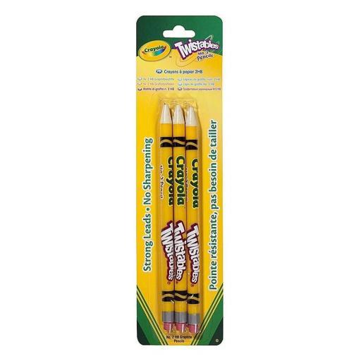 Crayola Twistables Graphite Pencils (Pack of 3)