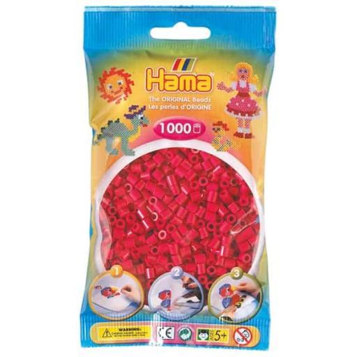 Hama 1,000 Claret Midi Beads in a Bag