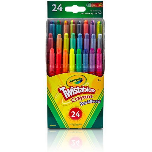 Crayola Mini Twistables Special Effect Crayons (Pack of 24)