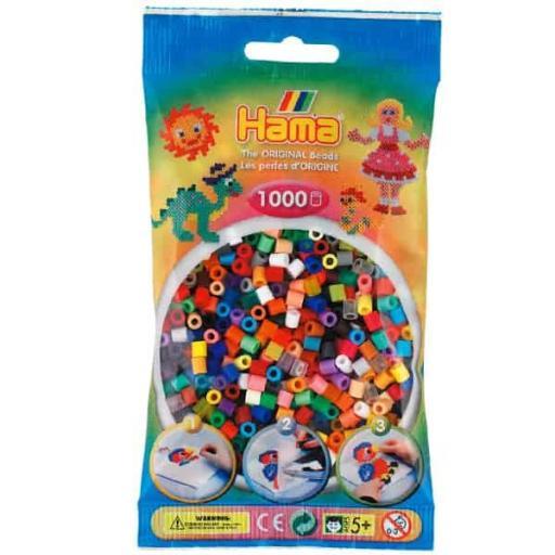 Hama 1,000 Colour Mix Midi Beads in a Bag