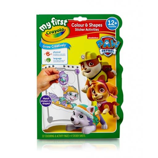 My First Crayola Paw Patrol Colour and Shapes Activity Book