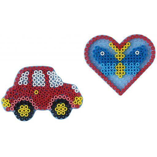 Hama Maxi Pegboard Bag Car & Heart