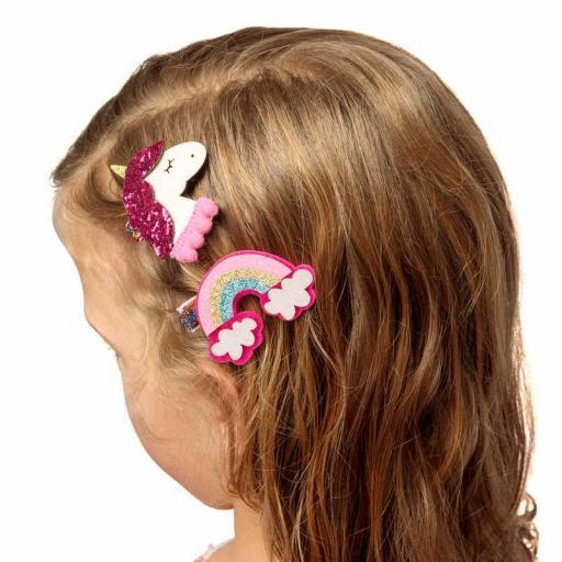 Tobar Rainbow & Unicorn Hair Clips / One Random Style Per Purchase