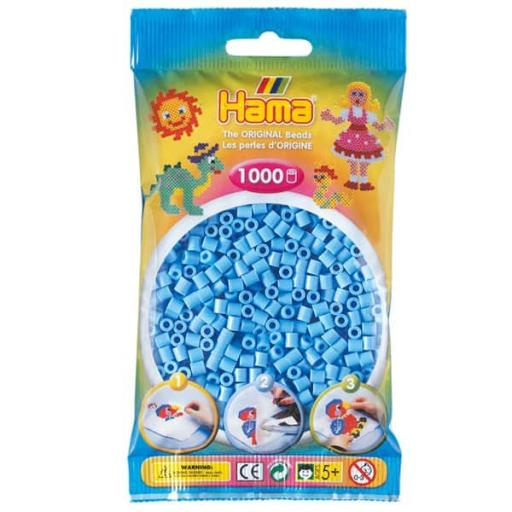 Hama 1,000 Pastel Blue Midi Beads in a Bag