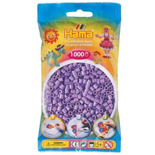 Hama 1,000 Pastel Purple Midi Beads in a Bag