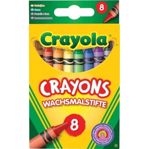 Crayola Crayons Assorted (Pack of 8)