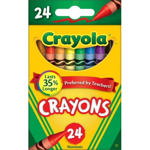 Crayola Assorted Crayon Colours (Pack of 24)