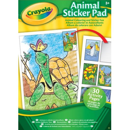 Crayola Animal & Activity Sticker Pad