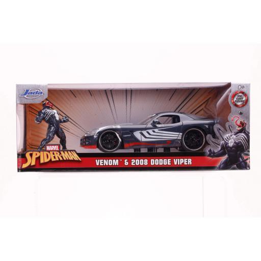 Jada Marvel Venom 2008 Dodge Viper Vehicle (1:24)
