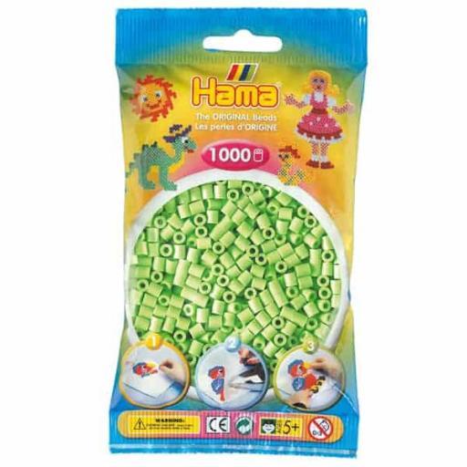 Hama 1,000 Pastel Green Midi Beads in a Bag