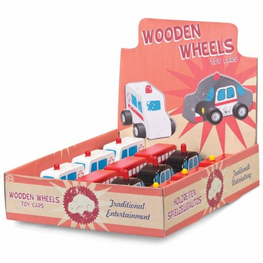 Tobar Wooden Wheels Toy Cars / One Random Vehicle Per Purchase