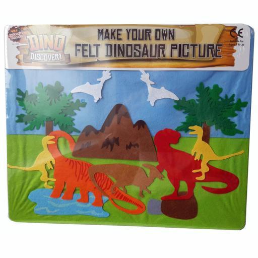 Felt Puzzle Dino Large