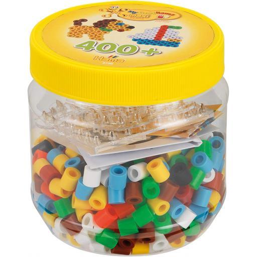 Hama Maxi 400 Beads & Pegboards in Tub Yellow