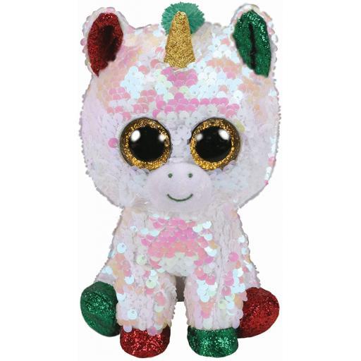 Ty Flippable Christmas Sequin Stardust the Unicorn