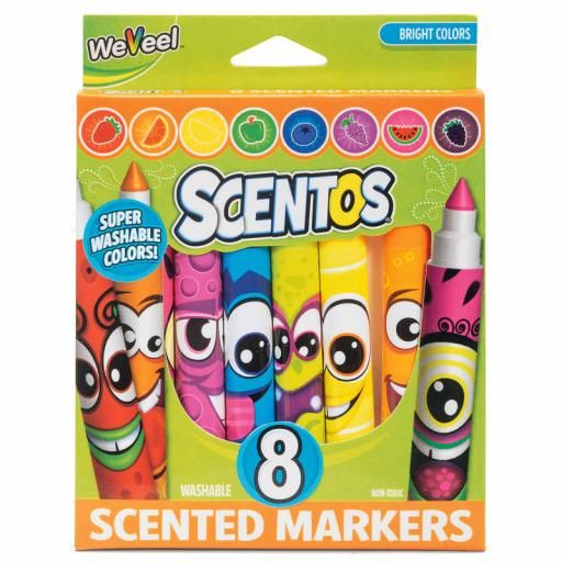 Scentos Funny Face Fruit Scented Markers 8 Pack
