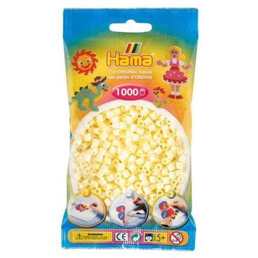 Hama 1,000 Cream Midi Beads in a Bag