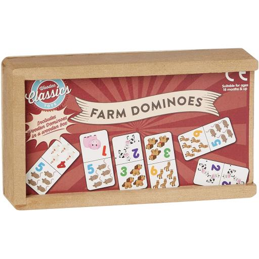 A to Z Wooden Farm Dominoes