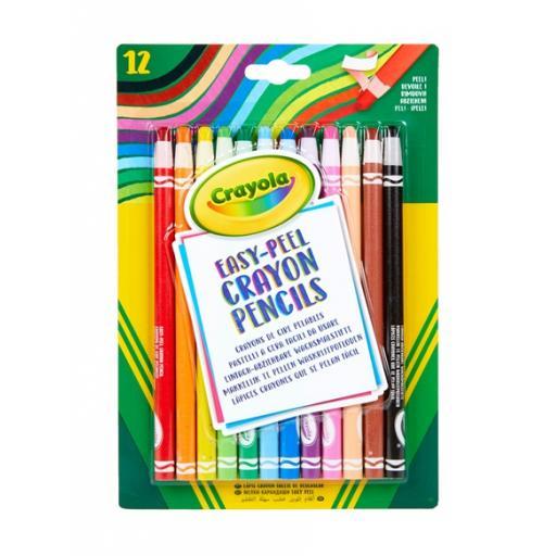 Crayola Easy Peel Crayon Pencils (Pack of 12)