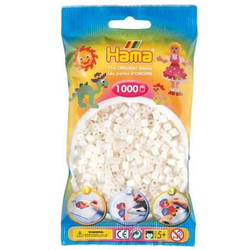 Hama 1,000 Pearl Midi Beads in a Bag