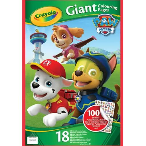 Crayola PAW Patrol Giant Colouring Pages With Stickers