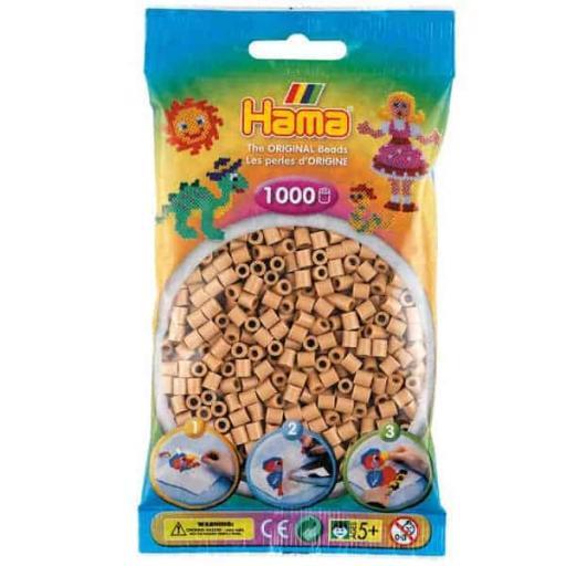 Hama 1,000 Tan Midi Beads in a Bag