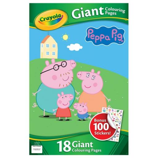 Crayola Peppa Pig Giant Colouring Pages With Stickers