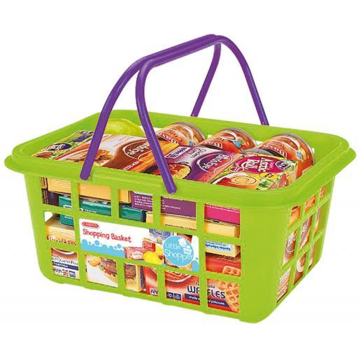Casdon Shopping Basket With Food