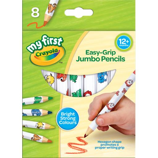 My First Crayola Jumbo Decorated Pencils (Pack Of 8)