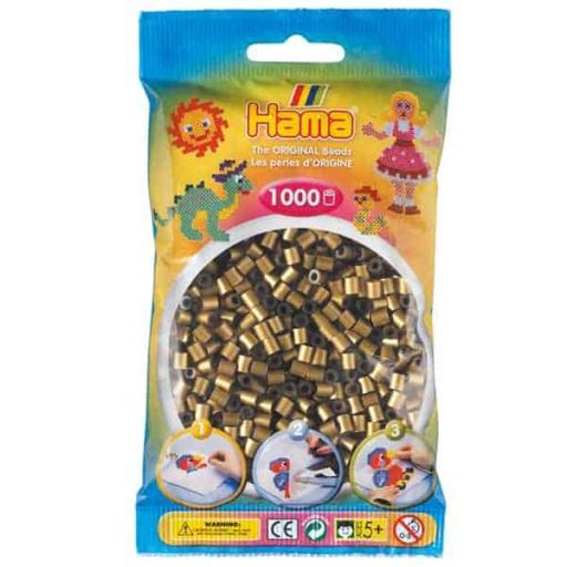 Hama 1,000 Bronze Midi Beads in a Bag