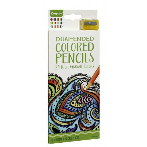 Crayola Dual-ended Vibrant Coloured Pencils (Pack of 12)