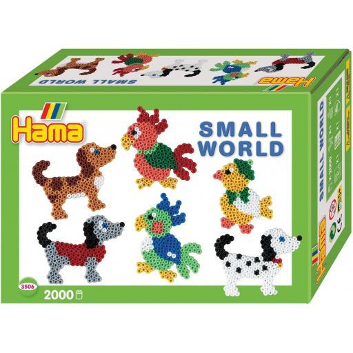 Hama Small World Dog & Parrot Set