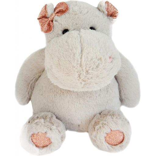 Histoire d'Ours Hippo Girl Soft Plush Toy 25 cm Pink
