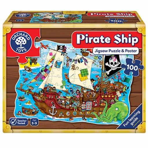 Orchard Toys Pirate Ship Jigsaw Puzzle And Poster