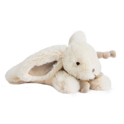 Doudou et Compagnie Lapin Bonbon Soft Toy Plush Taupe 16cm.