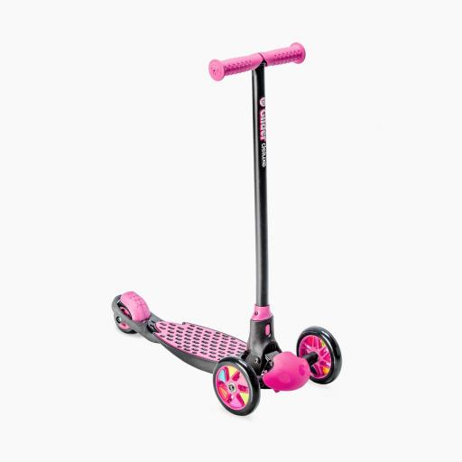 Yvolution Y Glider Deluxe Kids Scooter Pink