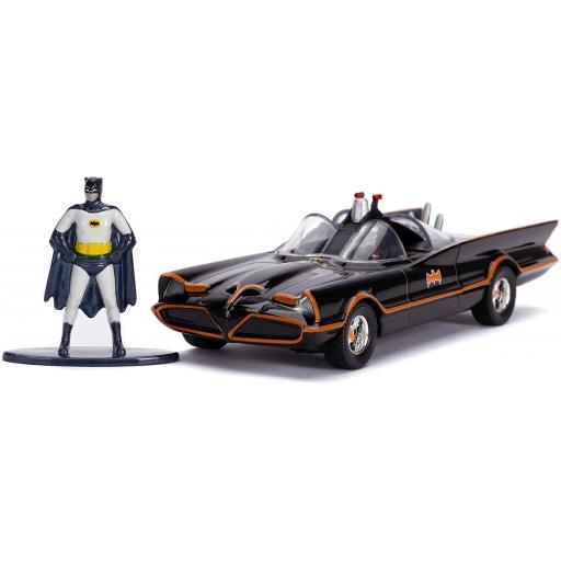 Batman 1966 TV Series Classic Batmobile Die-Cast Toy Car with Batman Figure Collectable