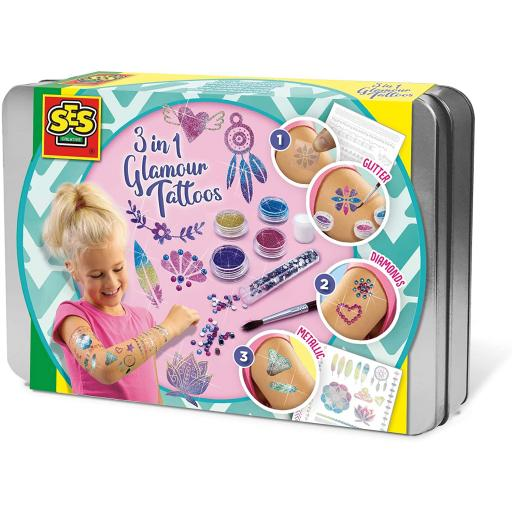 SES Creative Children's 3 in 1 Glamour Tattoos