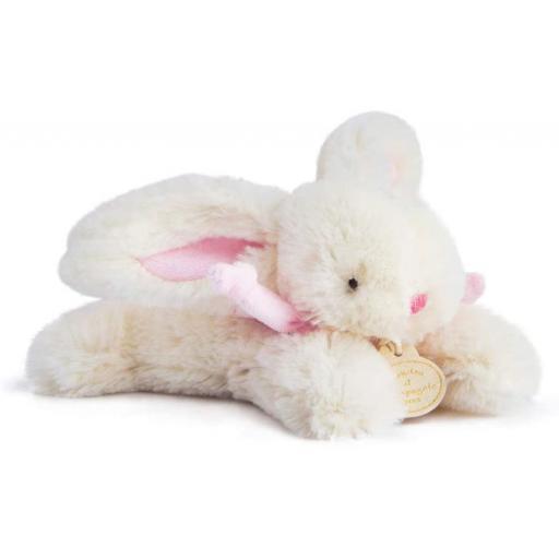Doudou et Compagnie Lapin Bonbon Soft Toy Plush Rose 16cm.