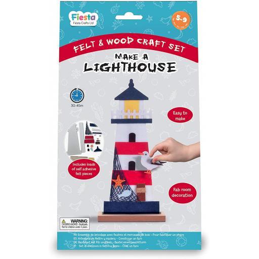 Fiesta Crafts Wood & Felt Craft Kit - Make a Lighthouse