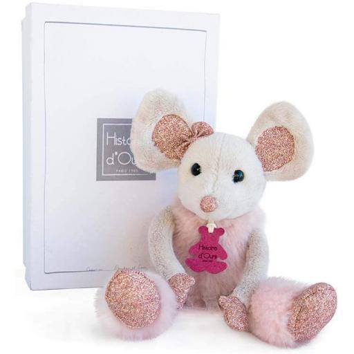 Histoire d'Ours 25 cm Mouse & Star Plush Toy Bonbon Pink