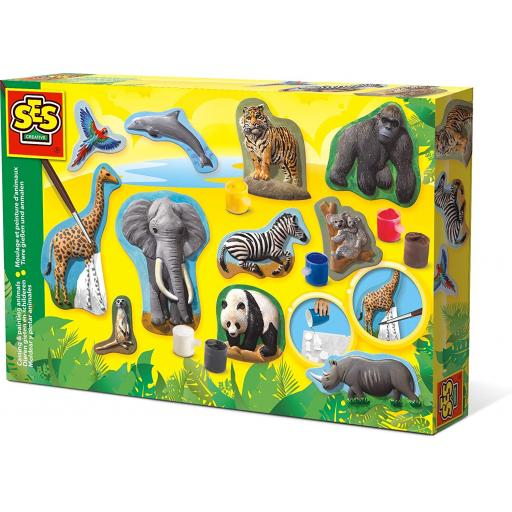 SES Creative Casting and Painting Set - Animals