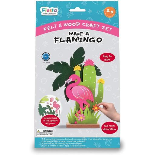 Fiesta Crafts Wood & Felt Craft Kit - Make a Flamingo
